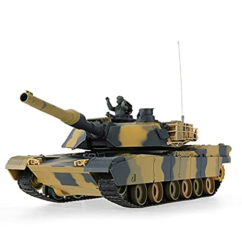 Goolsky HENG LONG 3816 1/24 US M1A2 Abrams Airsoft Schlacht Panzer RC Tank mit Programmierfunktion