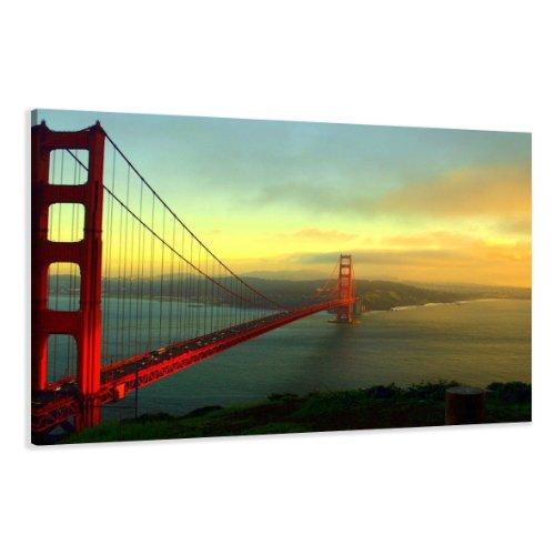 120-x-80-cm-Bild-auf-Leinwand-USA-San-Francisco-5085-SCT-deutsche-Marke-und-Lager-Die-Bilder-das-Wandbild-der-Kunstdruck-ist-fertig-gerahmt