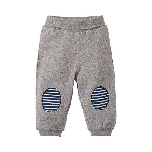 Bornino Basics Hose - Baby-Stoffhose aus Reiner Baumwolle mit modischen Kniepatches & elastischem Komfortbund - sportlicher Look - Nicht Elastische Komfortbund