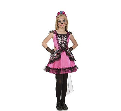 My Other Me Disfraz Damisela Esqueleto Para Nina Viving Costumes - Disfraz-angel-nia