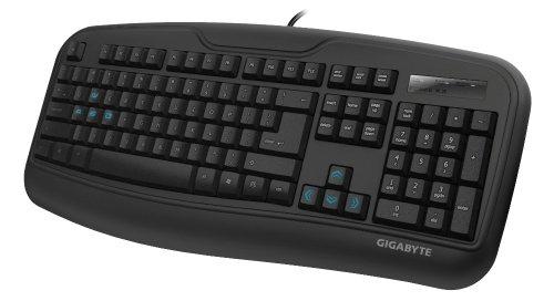 Gigabyte Force K3 - Teclado (Estándar, Alámbrico, USB, QWERTY, Negro)