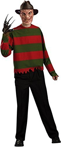 (Fancy Me Herren Offiziell Freddy Krueger Nightmare on ELM Street TV Film Halloween Horror Kostüm Kleid Outfit)