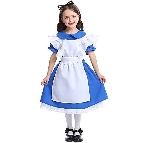 en Maid Kleid Kostüm Kinder Alice im Wunderland Cosplay Kostüm,M ()