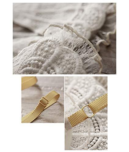 RedAlphabet Unterwäsche aus einem Stück sexy dünner französischer Spitze bestickter Schalen-BH, kein Stahlring, Verstellbarer Brustbereich, vordere Schnalle (Size : 70A=30A=65A) - 7