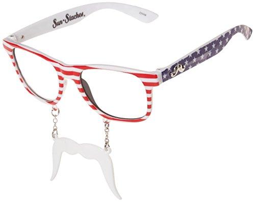 Patriot Kostüm - Party Kostüme-sun-staches-Rot Weiß und Blau Patriot Toys Sonnenbrille sg1090