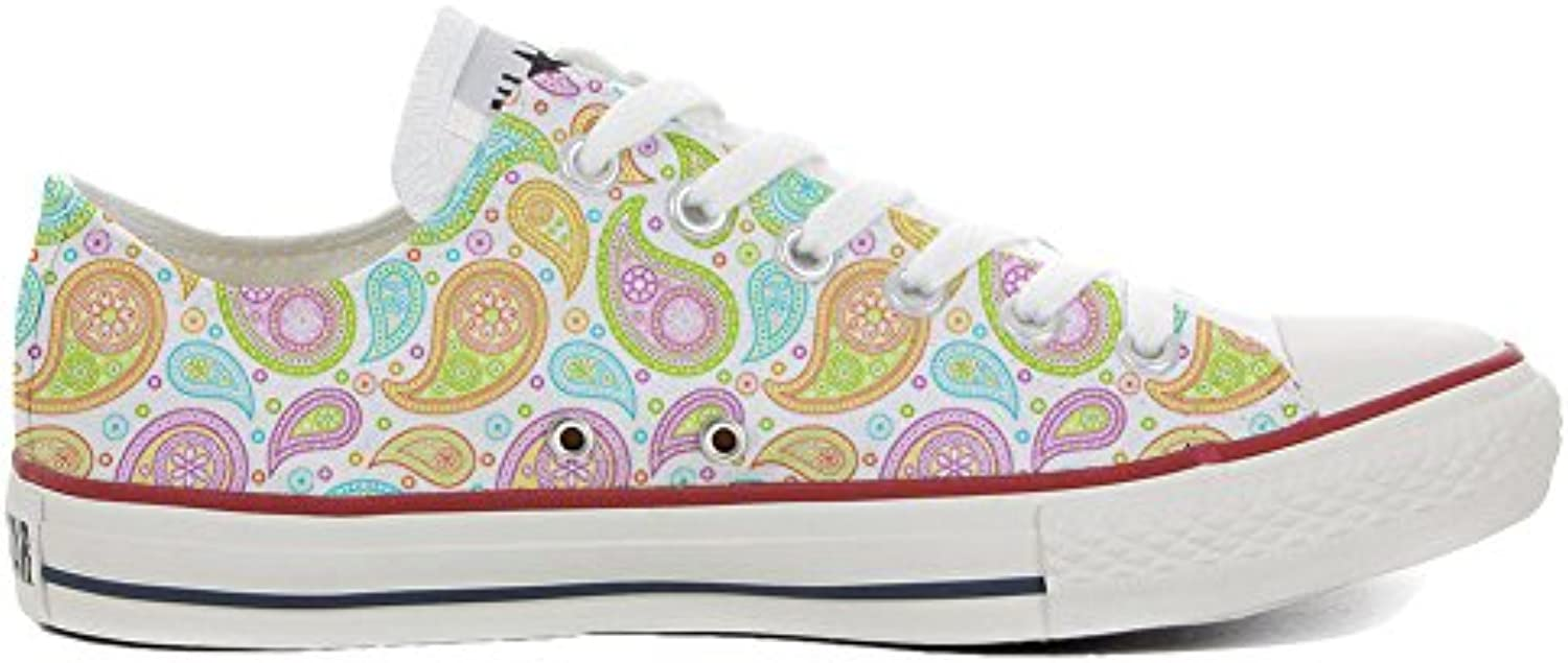 Make Your Shoes Converse All Star Slim Personalisierte Schuhe (Handwerk Produkt) Colorful Paisley