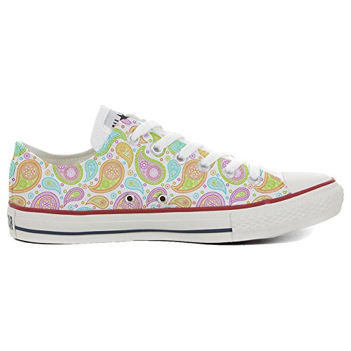 stomized - personalisierte Schuhe (Handwerk Produkt) Colorful Paisley Size 33 EU ()