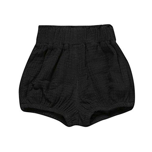 JERFER Säugling Kleinkind Kinder Unterwäsche Nettes Baby Mädchen Jungen Dot Geometrische Shorts Hosen Leggings 6M-5T (Schwarz, 6M)