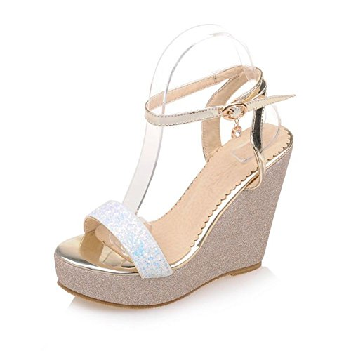 moda scarpe donna Zeppe/Paillettes scarpe open toe piattaforma A