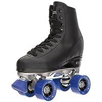 حذاء تزلج كلاسيك بعجلات للرجال من شيكاغو - حذاء تزلج رباعي العجلات بلون اسود فاخر, CRS40510 , , Size 10, , Black Rink Quad Skates,, 1