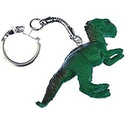 T-Rex llavero Miniblings Tyrannosaurus Dino dinosaurio verde