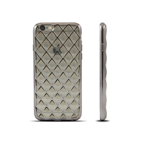 HULI Diamond Case Hülle Schwarz für Apple iPhone 7 / 8 Smartphone - Diamant Handyhülle aus TPU Silikon - Luxus Schutzhülle - sicherer Schutz Wabe Kaleidoskop Graphit