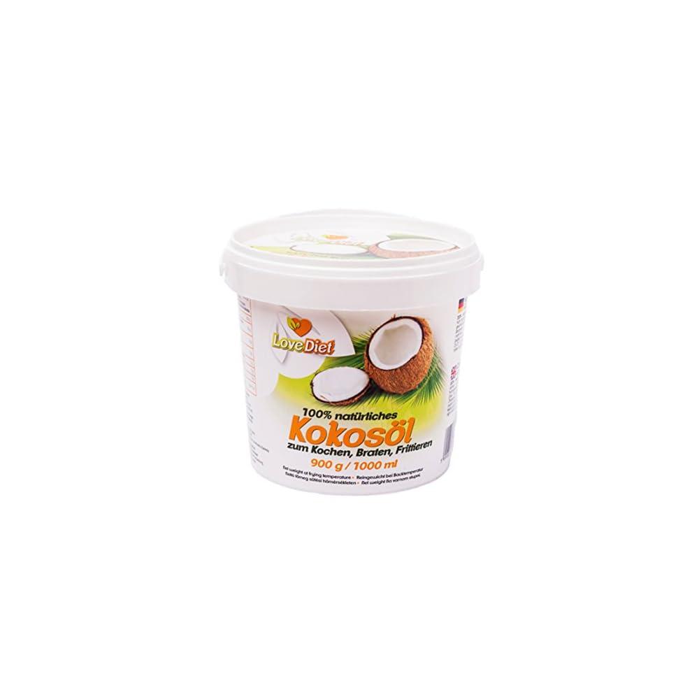 Lovediet Coconut Oil Kokosfett Kokosl 1000ml Neutraler Geruch Und Geschmack Paleo Vegan Produkte Glutenfrei Desodoriert