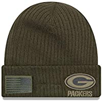 New Era Green Bay Packers Beanie On Field 2018 Salute to Service Knit