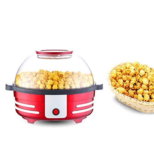 AIQQ Popcornmaschine-Popcorn Maker mit Abnehmbares Heizfläche Antihaftbeschichtet, Antihaftbeschichtung 5L Bietet Große Deckel für Servierschüssel, Bequeme Lagerung 850W