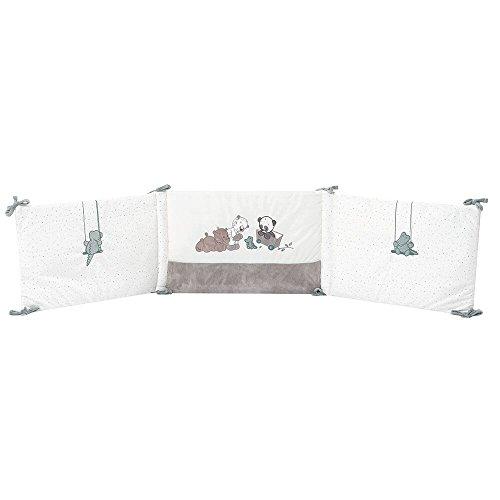 Nattou Tour de lit Bébé 70x140 cm et 60x120 cm, Fille et Garçon, gris - Loulou, Lea et Hippolyte