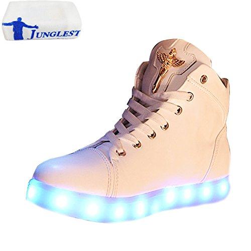Spor Led Handtuch Light Glow Athletischen top present Weiß Damen kleines High Sneaker junglest® xPa5wB6Ynq