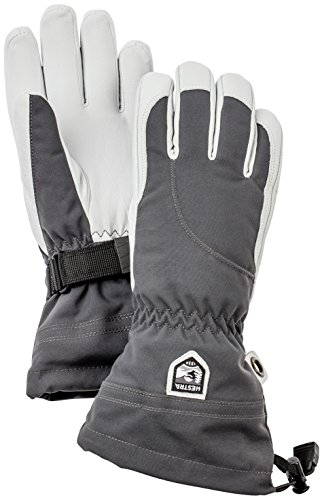 Damen-profil-snowboard Handschuhe (Hestra Damen Heli lang Gauntlet Leder Ski Handschuh, damen, grau)