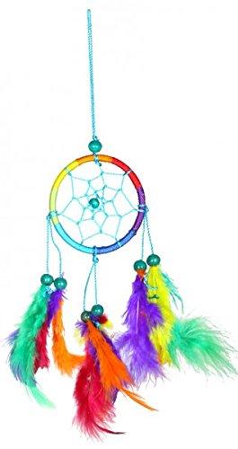 Atrapasuenos arco iris (Dreamcatcher) diametro: 6 cm