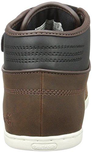 Boxfresh Swich Sh Lea/PU TFE/Blk, Sneaker Alte Uomo Marrone (Braun)
