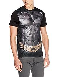 DC Comics Batman el caballero oscuro uniforme del hombre de impresión de sublimación camiseta (L, Negro) _ P