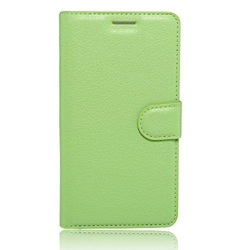 COVO® PU+TPU Kunstleder Brieftasche Hülle für Archos 55 Cobalt Plus mit Stand Funktion (Violett)