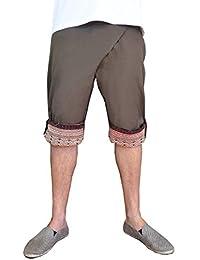 Sarouel virblatt unisexe, pantalon ethnique avec des tissages traditionnels, sarouel avec une taille élastique et confortable, taille unique, vêtements ethniques S - L Besonders