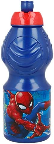 Stor Sport Bottle Spiderman Graffiti, Blue, 400ml, 37932