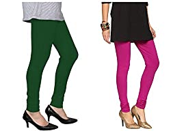 Roop Trading Co girls cotton material, churidar full length legging style, Magenta-darkgreen colour size available- XL,XXL,XXL