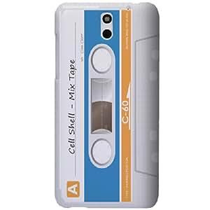 HTC Desire 610 (2014 Modell) Hülle Hardcase (Harte Rückseite) Case Cover - Kassetten Muster Schutzhülle für HTC Desire 610 (2014 Modell) Weiß
