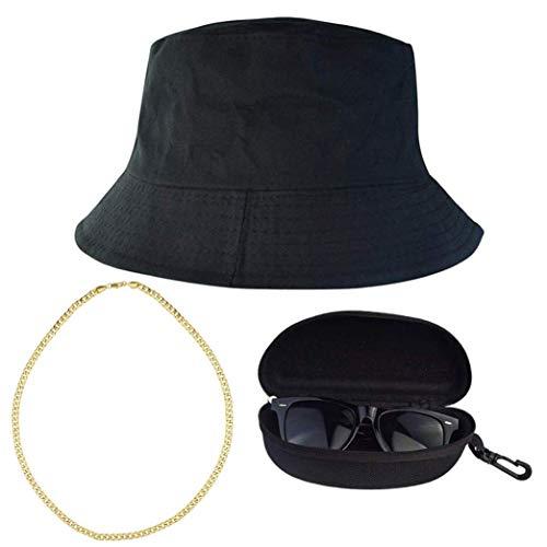 heliltd 3er Hip Hop Kostüm Kits, 80er 90er Jahre coole Hip Hop Outfits, Rapper Kostüm Kit