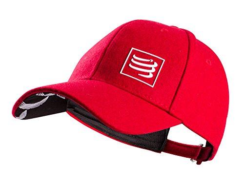 Compressport Wool Cap Trucker Cap - Baseballkappe - Wollkappe - Mütze - Merino Wolle (red)