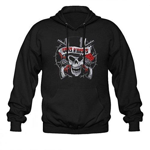 Guns N'Roses-Felpa con cappuccio, motivo: NYC nero