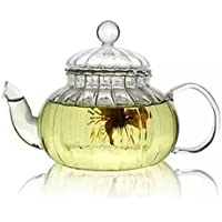 Beileer Clear Glass Heat Resistant Teapot 600ml with Glass Infuser Teapots (600ml glass filters)