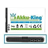 Akku-King Akku ersetzt Nokia BL-5J - Li-Ion 1600mAh - für 5800 XpressMusic, 5230, C3-00, N900, X6, Lumia 520, 521, Asha 200, 201, 302