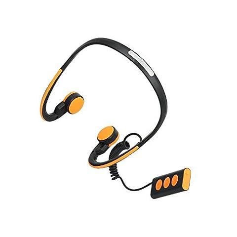 Baoduohui Aides auditives à conduction osseuse Bluetooth 4.1 Sans fil, Meilleur capteur médical sonore Appareils auditifs pour IOS et Android Smartphones Tablet PC Ordinateurs portables et autres périphériques Bluetooth ( Couleur : Orange )