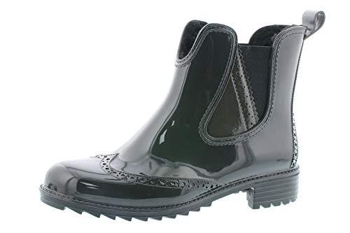 Rieker Damen Gummi-Stiefel gefüttert Grau, Schuhgröße:EUR 39