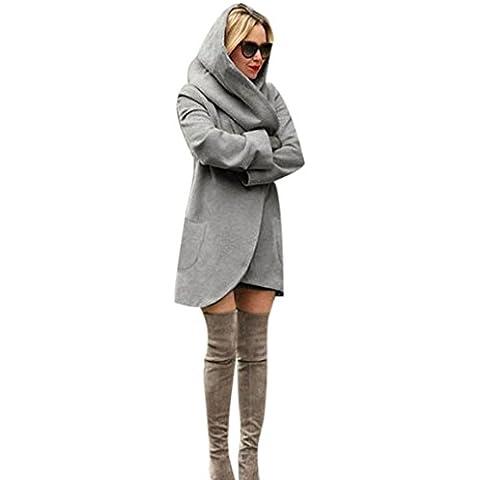 Fortan Cappotto del rivestimento delle donne di modo lungo sottile Windbreaker del parka Outwear cappotto del cardigan