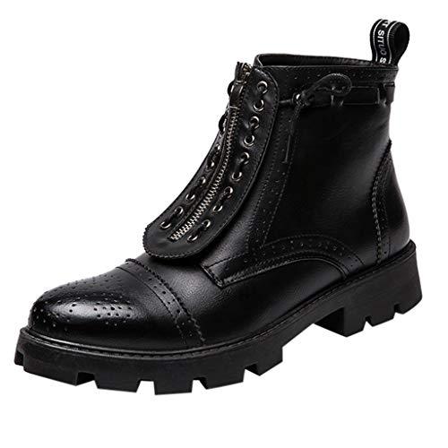 Stivali da Uomo in Pelle Stivali da Scarpe Corti Uomo Inghilterra Stivali Alti Vintage Stivali da Moto Stivali Militari Stivali da Lavoro Stivali da Equitazione Oslo per Adulti Unisex