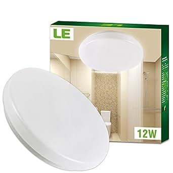le wasserfest deckenleuchte ersetzt 100w gl hbirne warmwei led deckenlampe ip44 12w 28cm 3000k. Black Bedroom Furniture Sets. Home Design Ideas