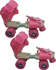 Sufi World Roller Skates for Kids Age Group 5-12 Years Adjustable Inline Skating Shoes Pink and Green