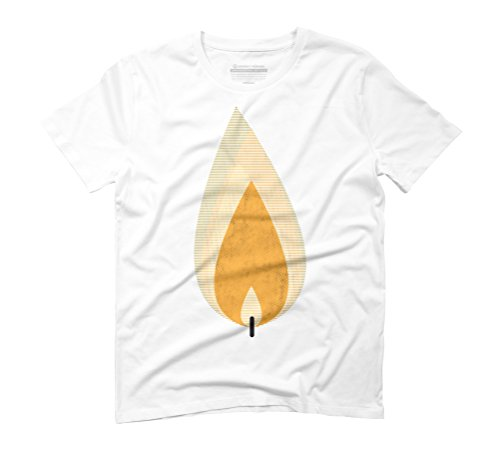 candle light Men's Graphic T-Shirt - Design By Humans White