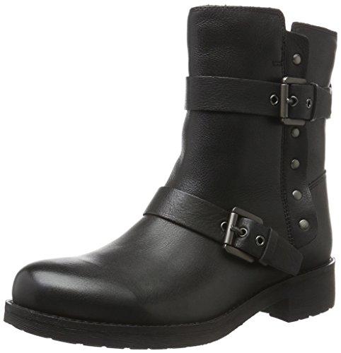 Geox Damen D New Virna J Biker Boots, Schwarz (BLACKC9999), 38 EU