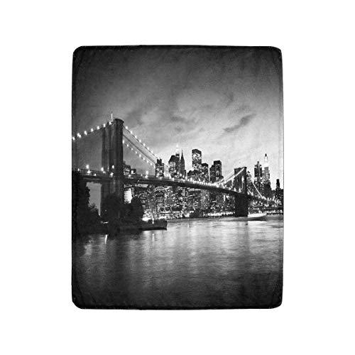 Luancrop Puente de Brooklyn y Manhattan al Atardecer, Nueva York Manta de...
