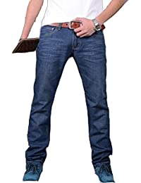 c8d19ca3c9f0 New Men s Fashion Designer Light Blue Jeans Casual Denim Mens Jean Pant  Trousers