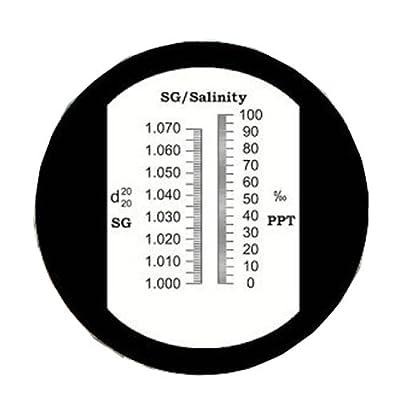 ATC Refraktometer/Seewassertester Rhs-10atc Duale Waage 0-10% (1.000-1.070sg) Sole Salinität Refraktometer Seewassertester