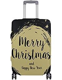 Preisvergleich für COOSUN Frohe Weihnachten Print-Reise-Gepäck Schutzabdeckungen Waschbar Spandex Gepäck Koffer Cover - Passend für...