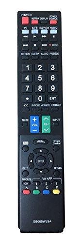 Universal Fernbedienung für Sharp TV lc-43le653u lc-43ub30u lc55le653u lc60eq10u lc60le640u lc60le650u lc-65le654u lc-65ub30u lc70le650u (60 Sharp Aquos Remote)