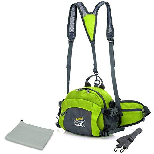 Kilofly Sport Utility Marsupio-Telo ad asciugatura veloce, combinata, verde