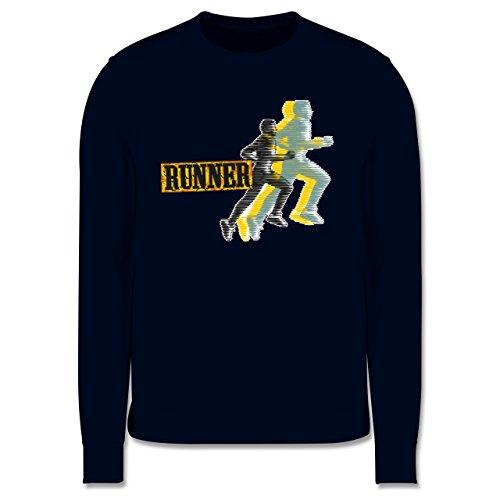 Laufsport - Runner - Herren Premium Pullover Dunkelblau